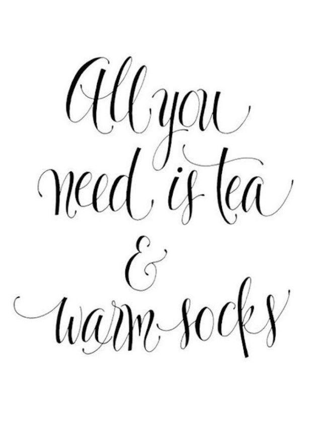 tea and warm socks
